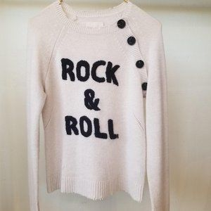 Zadig & Voltaire XS Rock & Roll Distressed Sweater